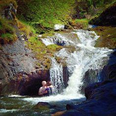 Amazing time in (Sherrif Muir, Dunblane), Scotland chasing waterfalls!  #Scotland #Scottish #waterfalls #water #nature #naturalbeauty #kiss #thekiss #trees #rock #rocks #green #grateful #love #Dunblane #SherrifMuir #secretwaterfall #countryside #livelife #simplepleasures