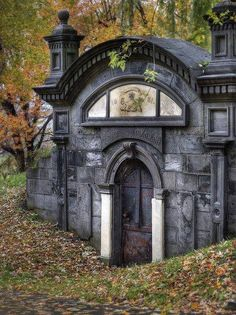 Crypt door within the Cote des Neiges Cemetery, in Montreal.
