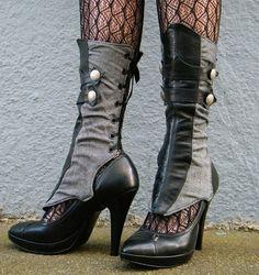 steampunk/ goth spats