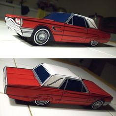 Tektonten Papercraft - Free Papercraft, Paper Models and Paper Toys: 1965 Ford Thunderbird Papercraft