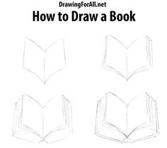 Book Illustration How To Draw Books In Shelf Which Can Be Read