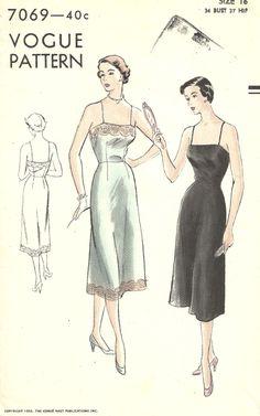 Vogue 7069 Vintage 50s Sewing Pattern // by studioGpatterns