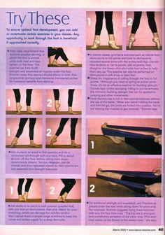 Foot Strengthening: Advice from Dance Teacher Magazine on strengthening your feet.:                                                                                                                                                                                 More