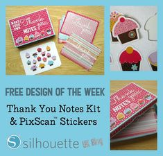 Silhouette UK: Free Design of the Week - Thank You Notes Kit - with PixScan™ stickers