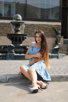"""Платье """"Джесс-Джинс"""" принт цветы - Платья - Магазин женской одежды «Ри Мари» High Low, Dresses, Fashion, Vestidos, Moda, Fashion Styles, Dress, Fashion Illustrations, Gown"""