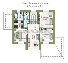 План 3 (зеркальный) Catalog, House Plans, Floor Plans, House Design, How To Plan, Villa, Blueprints For Homes, Home Plans, Architecture Illustrations