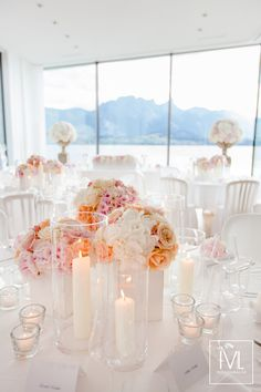 Ideas For Wedding Table Deko Pastell Wedding Unity Candles, Candle Wedding Favors, Wedding Reception Centerpieces, Wedding Table, White Candle Holders, White Candles, Trendy Wedding, Our Wedding, Wedding White