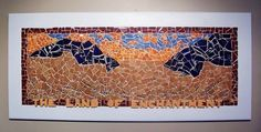 """""""The Land Of Enchantment"""" New Mexico Mosaic Desert Landscape / Framed Wall Panel."""