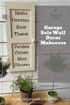 A cutesy country garage sale snowman wall decor plaque receives a garden themed makeover with paint and new herb stencils from Old Sign Stencils! #oldsignstencils #herbgardenstencils #herbs #gardenthemeddecor #gardenthemedecor #upcycle #garagesalefinds Garden Labels, Plant Labels, Botanical Decor, Botanical Wall Art, Snowman Door, Garage Sale Finds, Sign Stencils, Door Plaques, Dixie Belle Paint