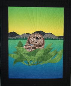 Sea otter quilted