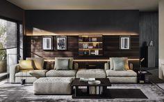ALBERT by Vincent Van Duysen - Modular sofa / contemporary / fabric by Molteni&C Italian Furniture Design, Contemporary Furniture, Sofa Design, Modular Corner Sofa, Wall Storage Systems, Modul Sofa, Interior Decorating, Interior Design, Design Interiors
