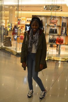 The lovely Fahari was in her denim, parker and trainers combo. Clothes Line, Keep Up, Trainers, Bomber Jacket, Events, Denim, Jackets, Fashion, Tennis Sneakers