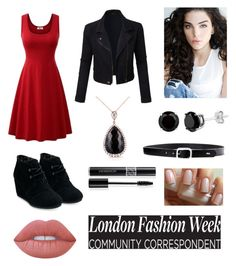 """""""Get the London Look!"""" by roeluzspeirs529 ❤ liked on Polyvore featuring LE3NO, TOMS, Kobelli, Lauren Ralph Lauren, Lime Crime and Christian Dior"""