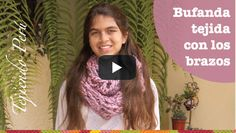 Tejiendo Perú: bufanda teixida amb els braços / scarf knitting with your arms