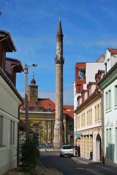 Minaret. Built in the 17th century while the city Eger was under Turkish rule. Eger, Hungary