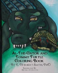 Al the Gator and Tommy Turtle Coloring Book - https://tryadultcoloringbooks.com/al-the-gator-and-tommy-turtle-coloring-book/ - #Animals, #ChildrensColoringBooks