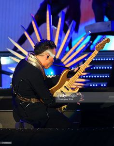 Musician Luke Steele of Empire of the Sun performs onstage during Rock in Rio USA at the MGM Resorts Festival Grounds on May 16, 2015 in Las Vegas, Nevada.