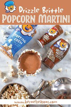 Popcorn Toppings, Popcorn Seasoning, Popcorn Bar, Chocolate Popcorn, Chocolate Drizzle, Cocktail Drinks, Cocktails, Kernel Season's, Whole Nut
