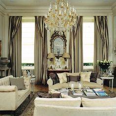 Elegant living room. Love the placid color scheme