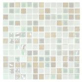 """Found it at Wayfair - Stone Glass Opalo 1"""" x 1"""" Mosaic in White  Kitchen back splash?  not screaming colors with white cabinets.  wood floor."""