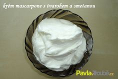 Krém mascarpone s tvarohem a smetanou Frosting, Icing, Cake Filling Recipes, Czech Recipes, Cake Fillings, Muffins, Cheesecake, Food And Drink, Ice Cream