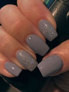 Nails 36 Perfect and Outstanding Nail Designs for Winter dark color nails;… Nails 36 Perfect and Outstanding Nail Designs for Winter dark color nails; nude and sparkle nails; Grey Acrylic Nails, Silver Glitter Nails, Gray Nails, Sparkle Nails, Dark Nude Nails, Grey Nail Designs, Fall Nail Art Designs, Creative Nail Designs, Pedicure Designs