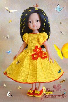 KasatkaDollsFashions - вязаная одежда для кукол Real Baby Dolls, Baby Barbie, Cute Baby Dolls, Crochet Doll Dress, Crochet Doll Clothes, Knitted Dolls, Nancy Doll, Diy Friendship Bracelets Patterns, Glitter Girl