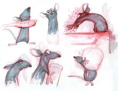 Perfecting Pixar's Movies Takes a Crazy Amount of Research | Same goes for these animation thumbnails, by Bolehm Bouchiba, study | Credit: Disney/Pixar | From Wired.com