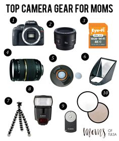 Top camera gear for moms