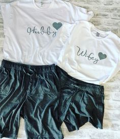 Excited to share this item from my shop: Hubby and Wifey matching pyjamas with heart date, His and Her pyjamas set, married couple pyjamas, New Mr and Mrs Pyjamas Set Matching Couple Outfits, Matching Couples, Country Girl Outfits, Country Fashion, Matching Couple Pajamas, Outfits For Teens, Cute Outfits, Formal Outfits, Pyjamas