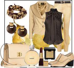 """Cognac and Pear"" by jacque-reid on Polyvore"