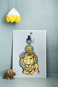Lion #Poster #kids   Sormeja via Etsy