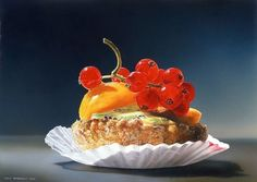 Colorful hyperrealistic paintings by Tjalf Sparnaay