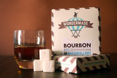 Known for its sweet body and warm aroma, bourbon from the finest of Kentuckys distillers makes a seamless shift into these delicious whisky treats. Handmade Bourbon Marshmallows.