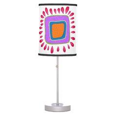 Retro Flower Custom Lamp