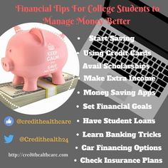 Financial Tips for College students to Manage and Save Money Better  #finance #financetips #money #moneymanagement #studentstips #money #personalfinance #