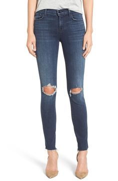 Definitely adding these distressed ankle skinny jeans to the denim collection. They will pair perfectly with anything all season long!