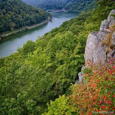 It is not autumn leaf season in West Virginia yet but we got a sneak peak of color this weekend.  Captured from the lovers leap trail overlook at Hawk Nest State Park in wild and wonderful West Virginia.  Can you imagine this view in a few weeks.