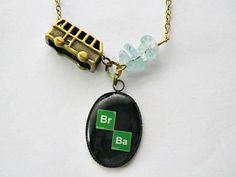 Breaking Bad: Br Ba elements photo resin with RV and meth pendant necklace by vintagehomage for $13.00