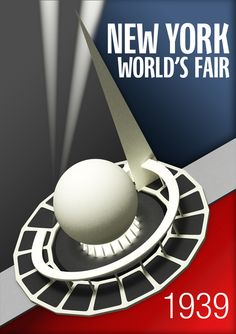 1939 New York World/'s Fair #2 Art Deco Poster Print 4 sizes, matte+glossy avail
