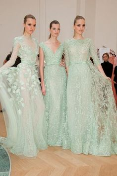 "beautiful mint lace dresses    If it wouldn't be too ""formal"" to wear these around all the time, I totally would!"