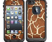 Skins FOR Lifeproof iPhone 5 Case - Giraffe skin print cute fun - Free Shipping - Lifeproof Case NOT included