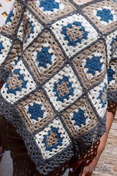 Anabelia craft design: Alice's slight crochet poncho