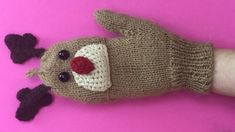 CHRISTMAS  GLOVES PART 1 - Fingerless Gloves With Rudolph design