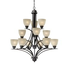 Found it at Wayfair - Avalon 12-Light Shaded Chandelier