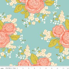This would be a perfect print for baby girl curtains (Cyndi Walker - Marguerite - Main in Blue)