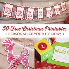Looking for creative ways to add a personal touch to your holidays? Here's our huge list of free Christmas Printables from our favorite people on the Net.