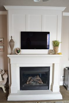 The Family Room: Fireplace Makeover Reveal