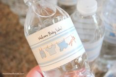 water bottle labels for boy baby shower Baby Shower Checklist, Baby Shower Games, Baby Shower Parties, Baby Boy Shower, Baby Showers, Wedding Showers, Baby Shower Buffet, Free Baby Shower Printables, Free Printables
