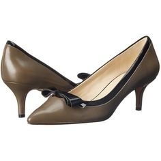 Nine West Xenos Women's 1-2 inch heel Shoes, Black ($63) ❤ liked on Polyvore featuring shoes, black, kohl shoes, black shoes, synthetic shoes, pointy toe shoes and black kitten heel shoes
